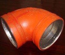 C-S外镀锌内衬不锈钢沟槽链接复合直角弯头